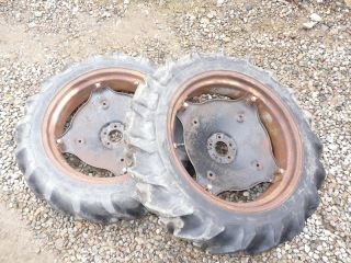 Power King 2418 Tractor Good Year 8 3 24 Rear Tires Rims