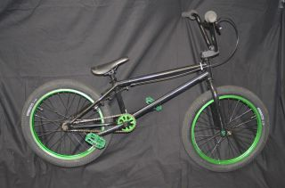 Fitbikeco Black BMX Bike Fit Bike Co Green Rims