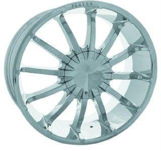 24 inch New Rims Tires Wheels Escalade Chrome Player 147
