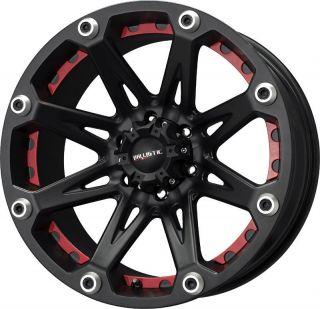 17 inch Ballistic Jester Black Wheels Rim 8x6 5 8x165 1 12 Dodge RAM