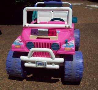 Power Wheels Beach Ranger Barbie Jeep