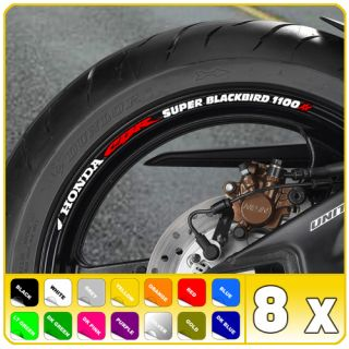 CBR Blackbird 1100 XX Wheel Rim Stickers Decals 1100XX B