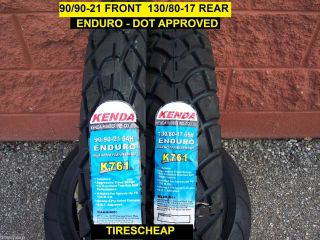 Two Tire Set Enduro Motorcycle Tire Set 90 90 21 130 80 17 K761
