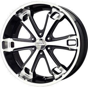 New 20x9 6x139 7 Liquid Metal Dyno Black Wheels Rims