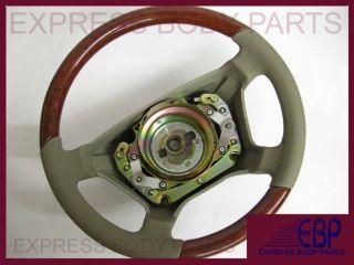 Mercedes Benz Seering Wheel Leaher Wood W140 Beige an Ligh Burl