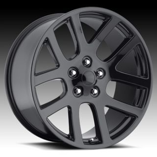 BLACK WHEELS 20 BY 9 DODGE RAM 1500 SRT10 BIG HORN 5 LUG BY 5 5 2004