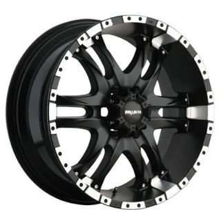 20 inch x9 Ballistic Wizard Black Wheels Rims 5x150 14
