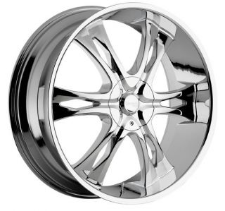 24 inch Incubus Nemesis Chrome Wheels Rims 6x135 Ford