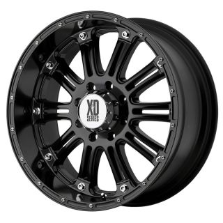 16x8 KMC XD Hoss Black Wheel Rim s 5x114 3 5 114 3 5x4 5 16 8