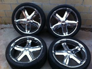 chrome 24 inch wheels rims chevy nissan infiniti 6 lug 6x139 7 with