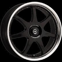 17 inch Gloss Black Motegi FF7 Rim Wheel 17x7 4 Lug New