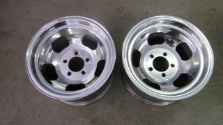 Vintage Ansen Slot Mag Wheels Rat Rod Gasser Polished