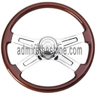UP2 15 Custom Chrome Wood Steering Wheels Kenworth