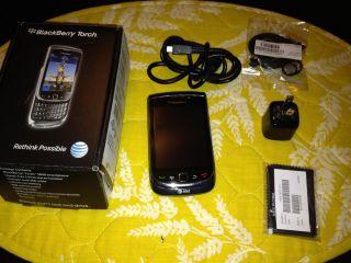 Blackberry Torch 9800 Unlocked w Box USB Charger Headphones Loooooook