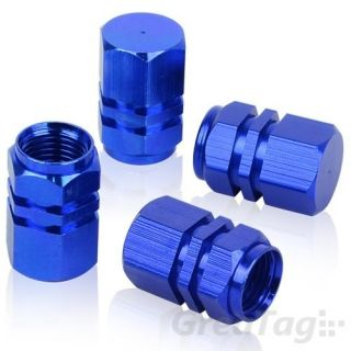 4pcs Tire Rim Wheel Valves Caps Blue for All Car Truck Motocycle Hot