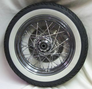 Harley Davidson Stock 40 Spoke Front Wheel 16x300 D Chrome is in Good