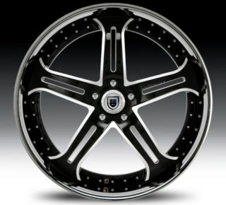 22 asanti AF167 Black Chrome Wheels Rims 2 Piece Tone