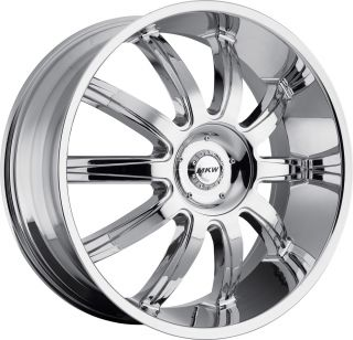 MKW Wheels M112 18 Chrome Wheel Tire Package