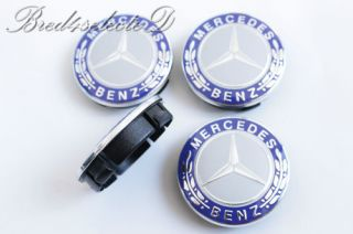 Mercedes Metal Wheel Center Caps Set x4 All 60mm Models