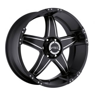 20 inch V Tec Wizard Black Wheels Rims 8x6 5 8x165 1 18 Dodge RAM 2500