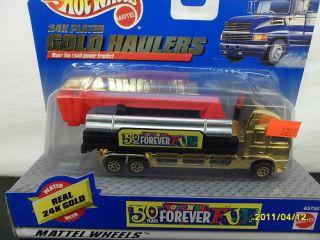 Hotwheel Ladder Truck Gold Hauler Toys R US B197