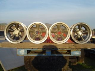 Vintage Original Torq Torque Thrust Wheels 15x7 15x8 5 Gasser Rat
