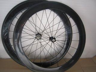 Full Carbon Fixed Gear Wheels 50mm Tubular 3K Track Road Bike 700c