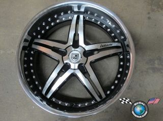 One Lexani LX15 22x10 +15mm blank machined black chrome lip rim wheel