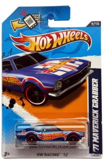 2012 Hot Wheels HW Racing 179 1971 Maverick Grabber