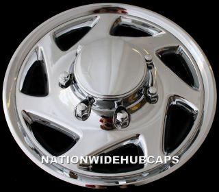 16 Chrome 8 Lug Full Wheel Covers Rim Hub Caps 4 Steel Wheels