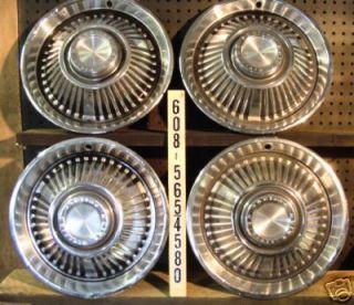 64 Pontiac Bonneville Star Chief Hubcaps Wheel Covers
