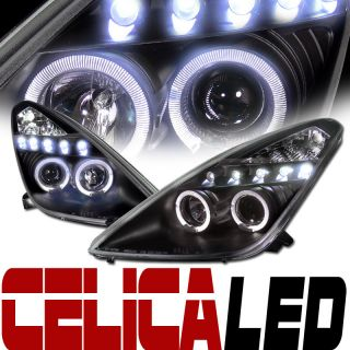 JDM BLK DRL LED HALO RIMS PROJECTOR HEAD LIGHTS LAMPS SIGNAL 00 05