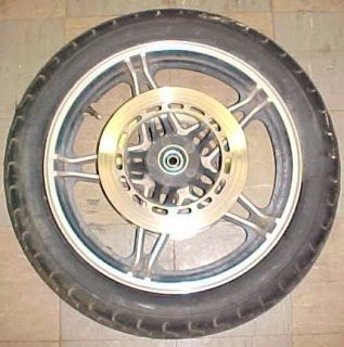 HONDA CB750 CB 750 SC NIGHTHAWK FRONT WHEEL RIM AND BRAKE ROTOR DISK