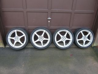 Enkei RS5 18 Alloy Rims w Kumho Ecsta Supra Tires 225 40ZR18