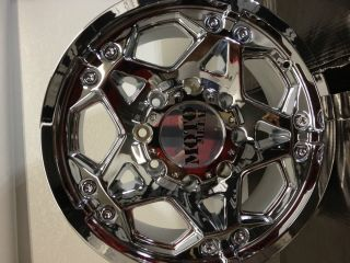17 Inch Chrome Moto Metal 960 Wheels Rims Chevrolet Silverado HD 2500