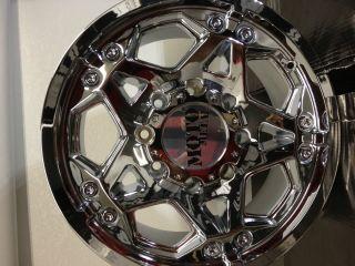 17 Inch Chrome Moto Metal 960 Wheels Rims Chevrolet Silverado HD 2500