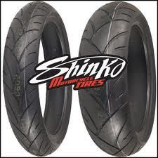 Shinko 190 50 17 120 60 17 005 Advance Motorcycle Tire Set