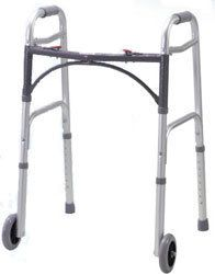 Drive Medical Deluxe Folding Walker with 5 Wheels