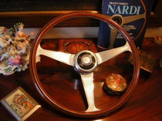 Mercedes 190SL Nardi Wood Steering Wheel New Flawless