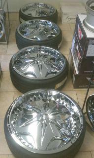 26 Dub Voodoo Chrome Rims 5x5 / 5x120 Wheel / Tires 295/25/26 *PRICE
