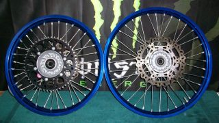 Takasago YZ450F YZ250f YZF450 front rear wheel rim disc blue 2008
