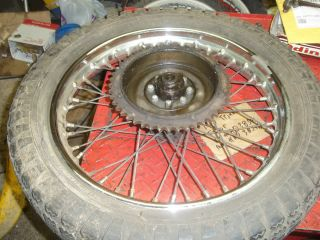 Triumph Bonneville T120R Rear Rim and Sprocket I Have More Parts for