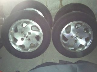 Tires and Rims Off of A 2001 Honda Accord
