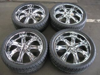 22 Wheels Rims Tires Escalade Suburban Tahoe Denali 24