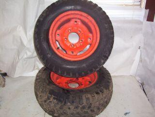 Case 222 Tractor Rear Tires Rims