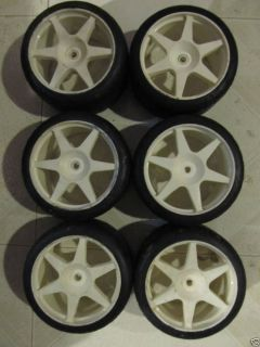 Harm FG 1 5 Scale Used Tires and Wheels Race P4 Qty 6