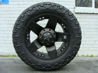 20 XD Rockstar Black 305 55R20 Nitto Trail MT 33 Mud Tires Dodge