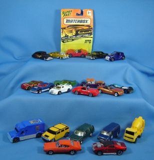 Assortment of 20 Hot Wheel / Match Box Vintage Cars   Race Cars   Hot