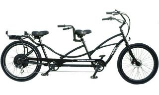 Cruiser Bicycle Bike Black Frame Rims Black Balloon Tires
