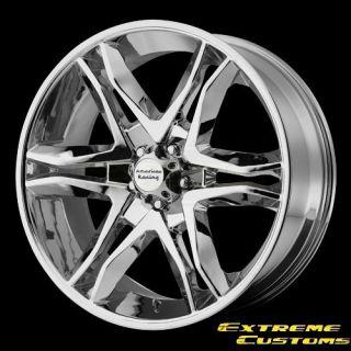 American Racing AR893 Mainline Chrome 5 6 Lug Wheels Rims FREE LUGS